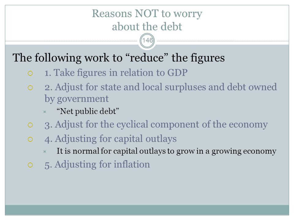 Reasons NOT to worry about the debt