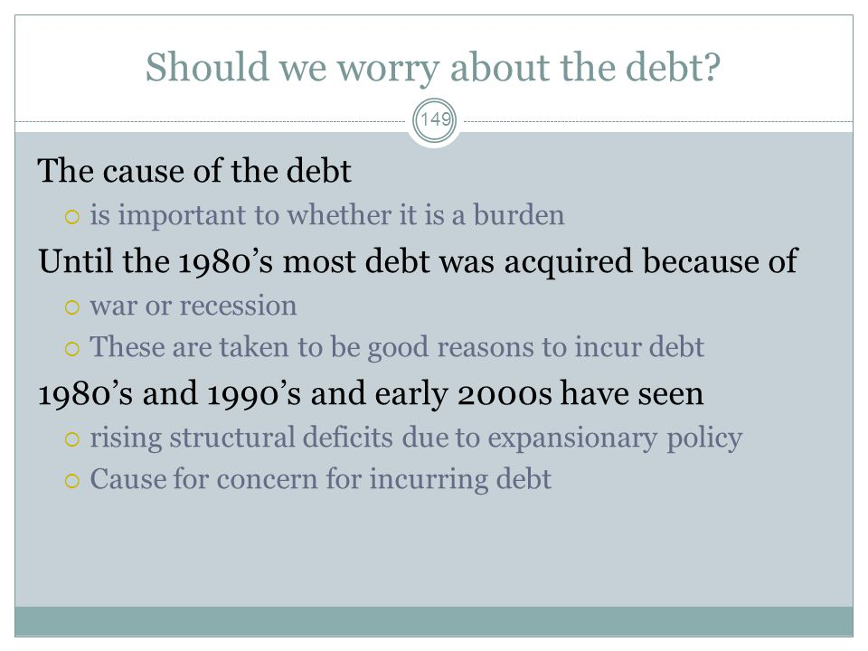 Should we worry about the debt