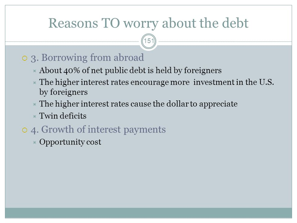 Reasons TO worry about the debt