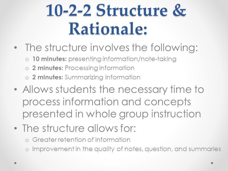 10-2-2 Structure & Rationale: