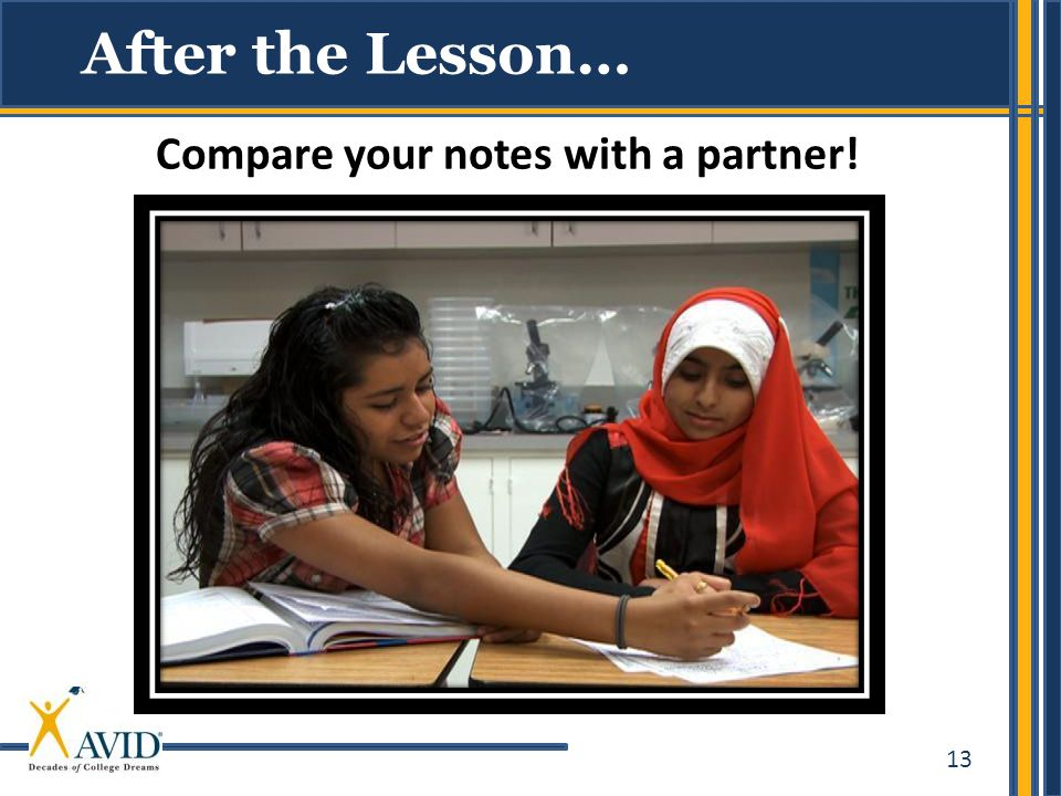 Compare your notes with a partner!
