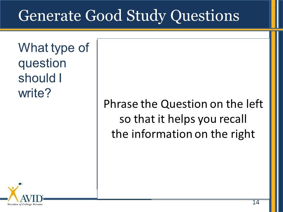 Generate Good Study Questions