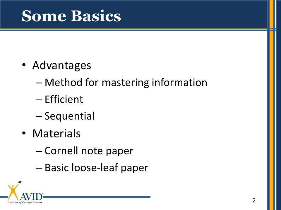 Some Basics Advantages Materials Method for mastering information