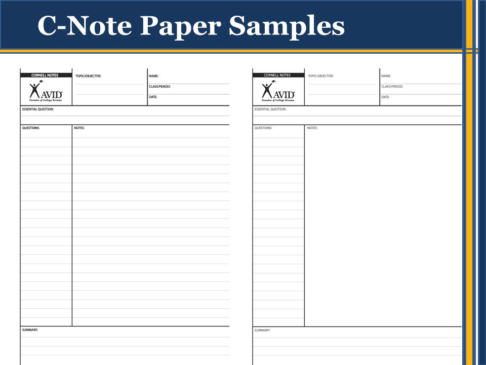 Cornell NoteTaking Introduce Students To Cornell Notes  Ppt Video