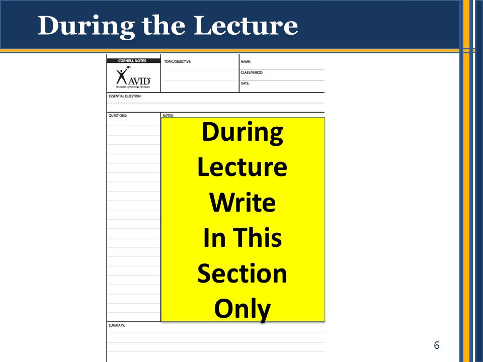 During Lecture Write In This Section Only