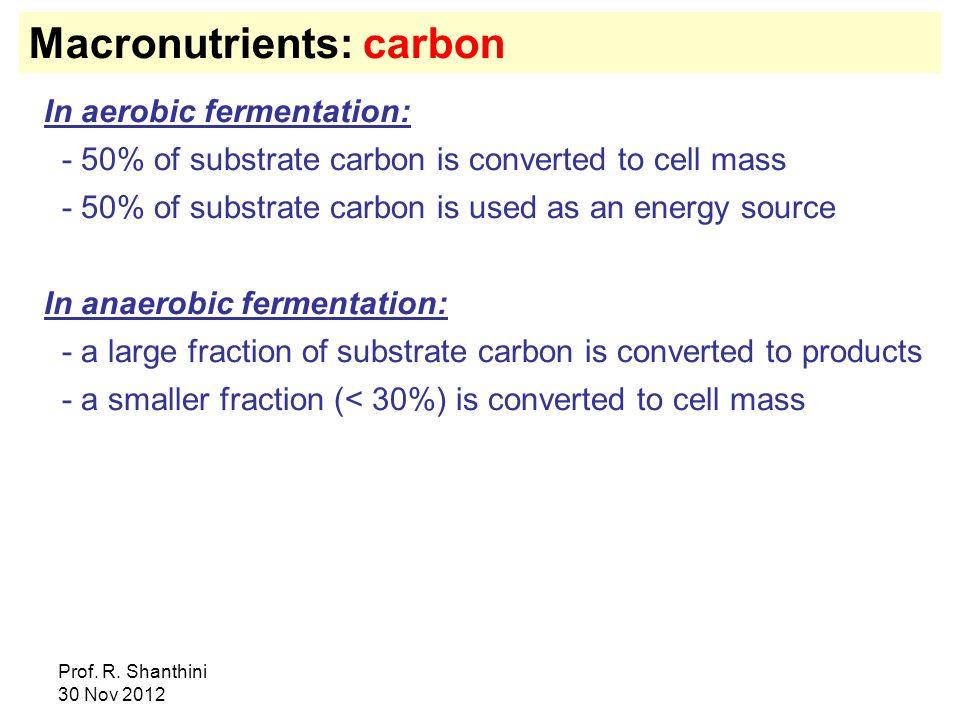 Macronutrients: carbon