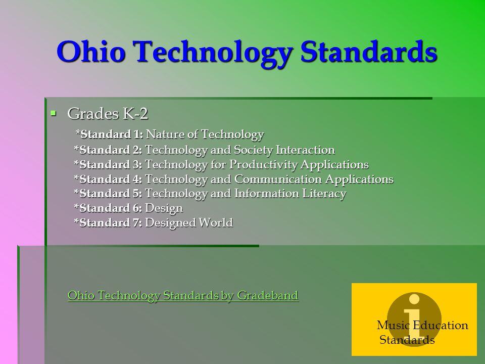 Ohio Technology Standards