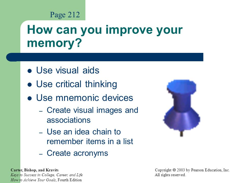 How can you improve your memory