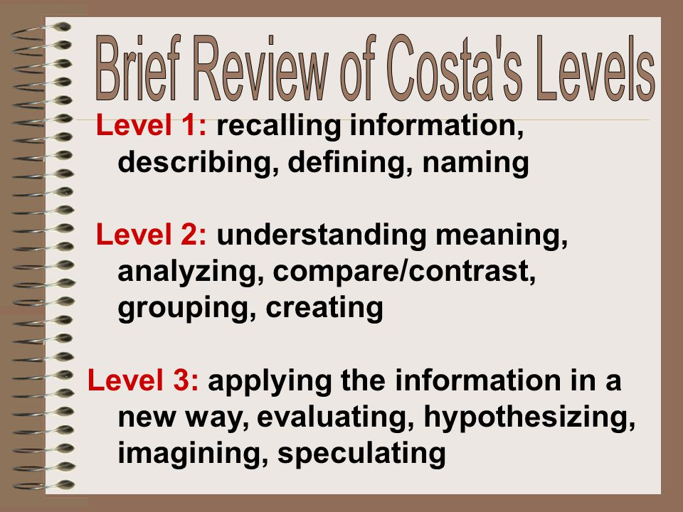 Brief Review of Costa s Levels