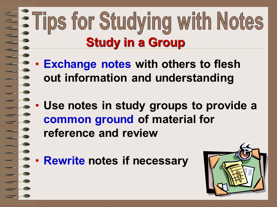 Tips for Studying with Notes