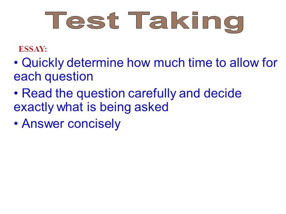 Quickly determine how much time to allow for each question