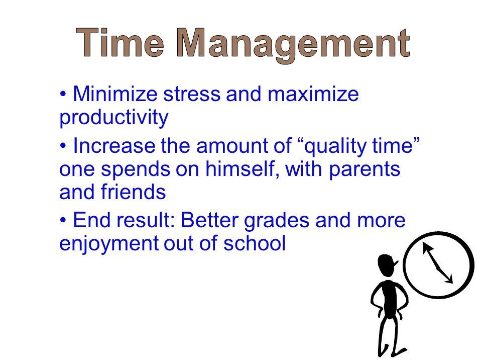 Time Management Minimize stress and maximize productivity.