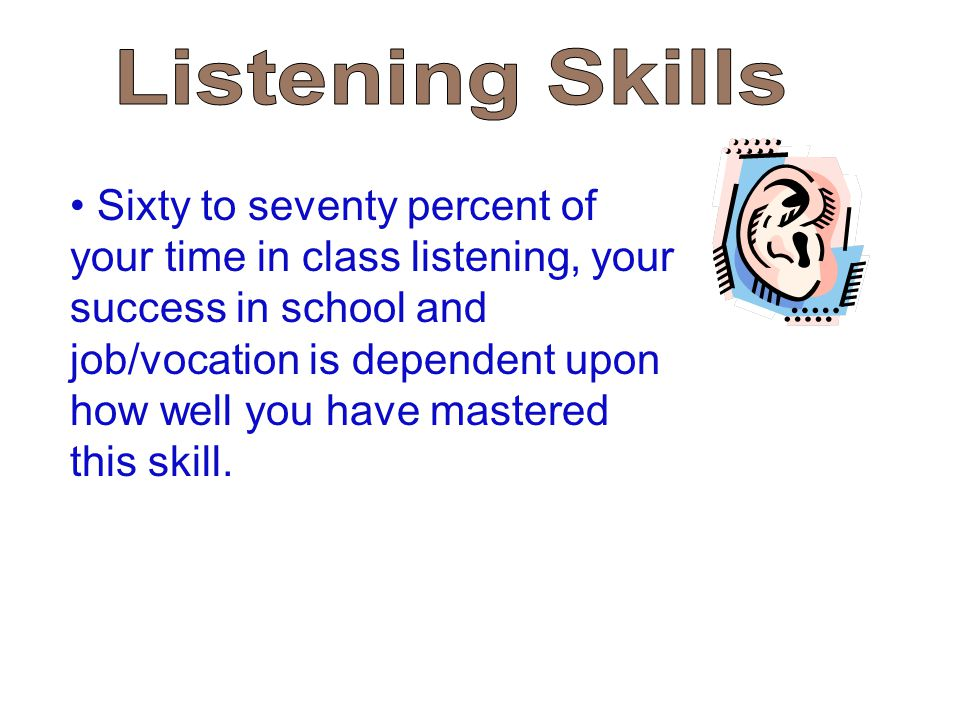 essay on effective listening skills Active listening effective listening skills essays: over 180,000 active listening effective listening skills essays, active listening effective listening skills term papers, active listening effective listening skills research paper, book reports 184 990 essays, term and research papers available for unlimited access.