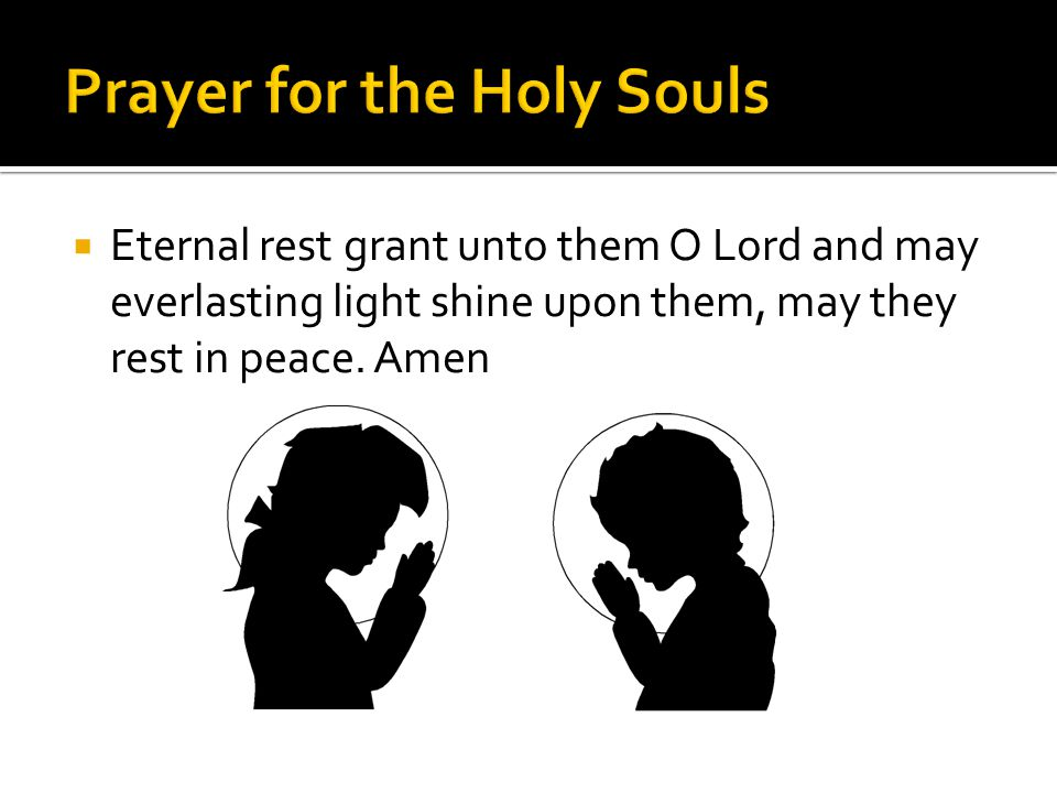 Prayer for the Holy Souls