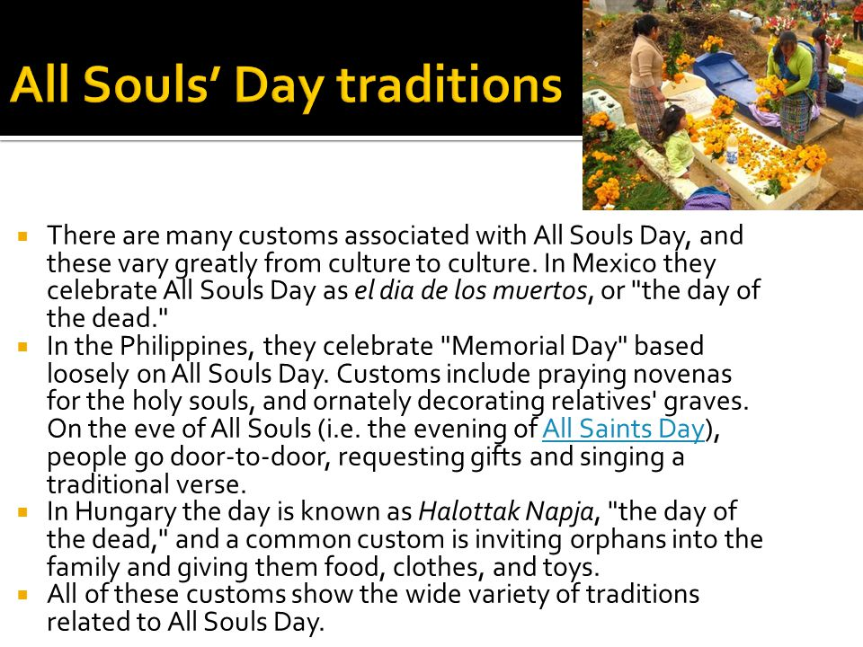 All Souls' Day traditions