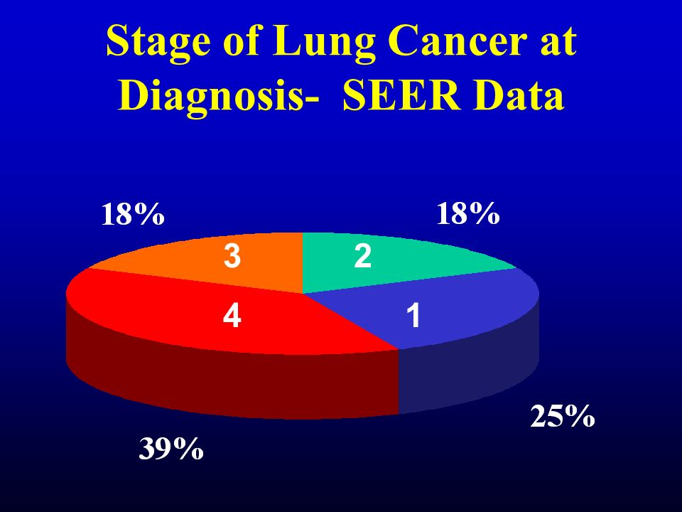 Stage of Lung Cancer at Diagnosis- SEER Data