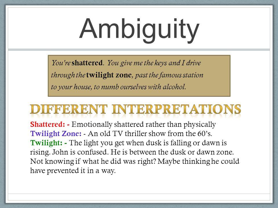Different Interpretations