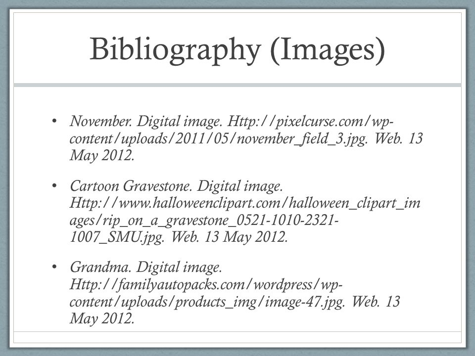 Bibliography (Images)