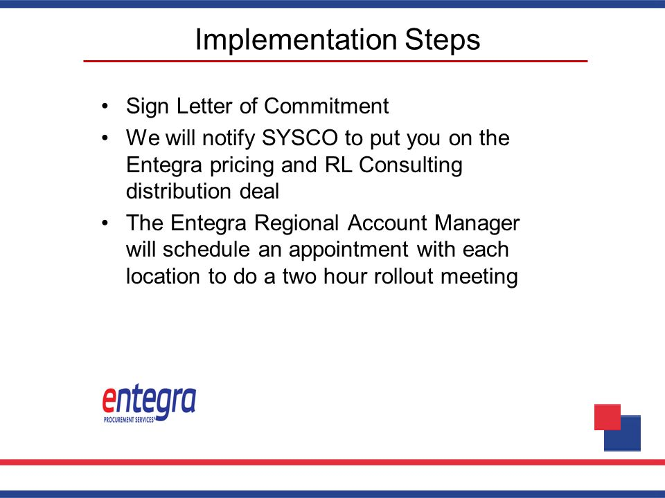 Implementation Steps Sign Letter of Commitment