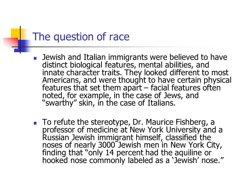 The question of race