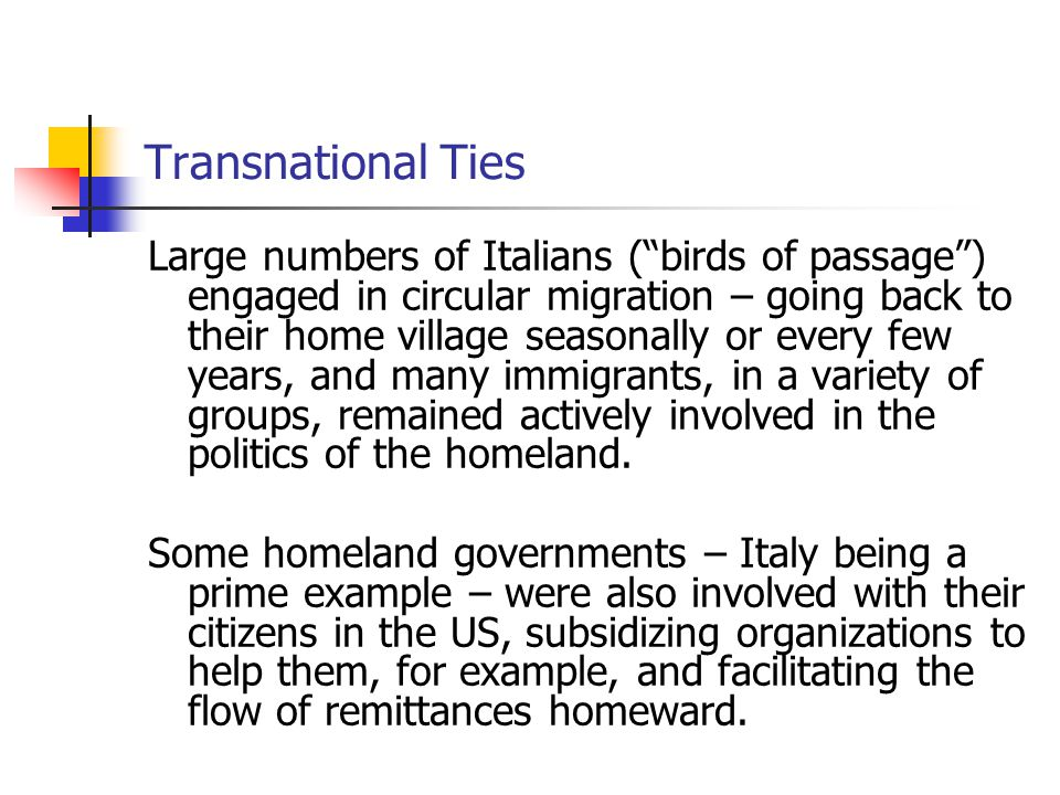 Transnational Ties