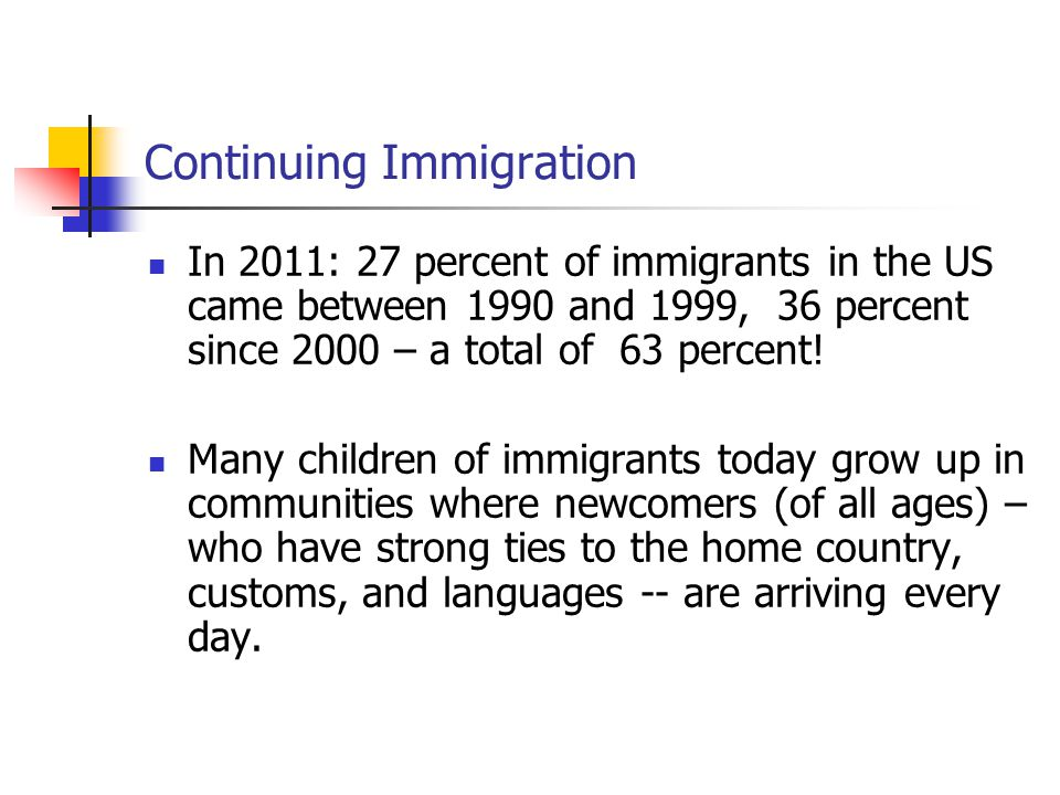 Continuing Immigration