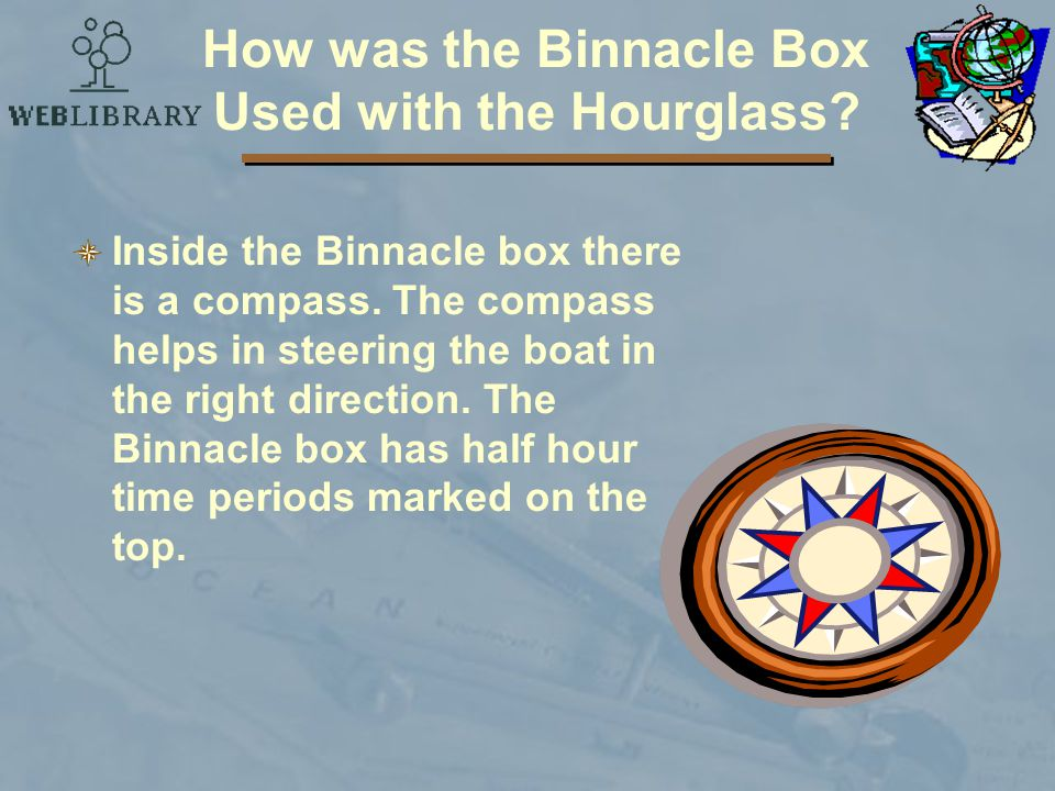 How was the Binnacle Box Used with the Hourglass