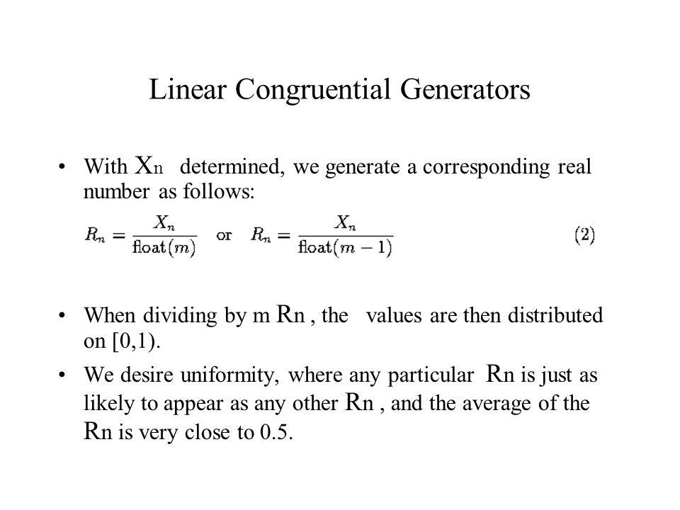 Linear Congruential Generators