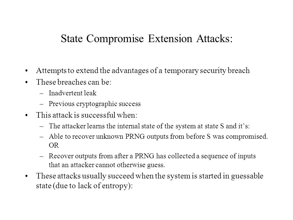 State Compromise Extension Attacks:
