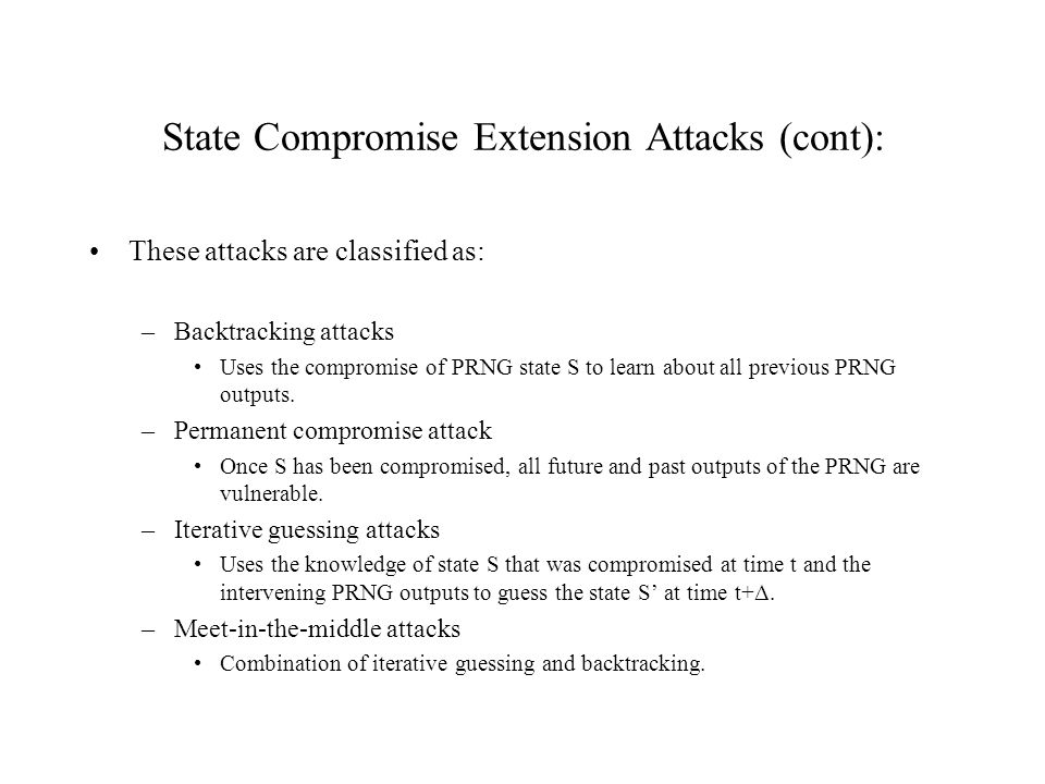 State Compromise Extension Attacks (cont):