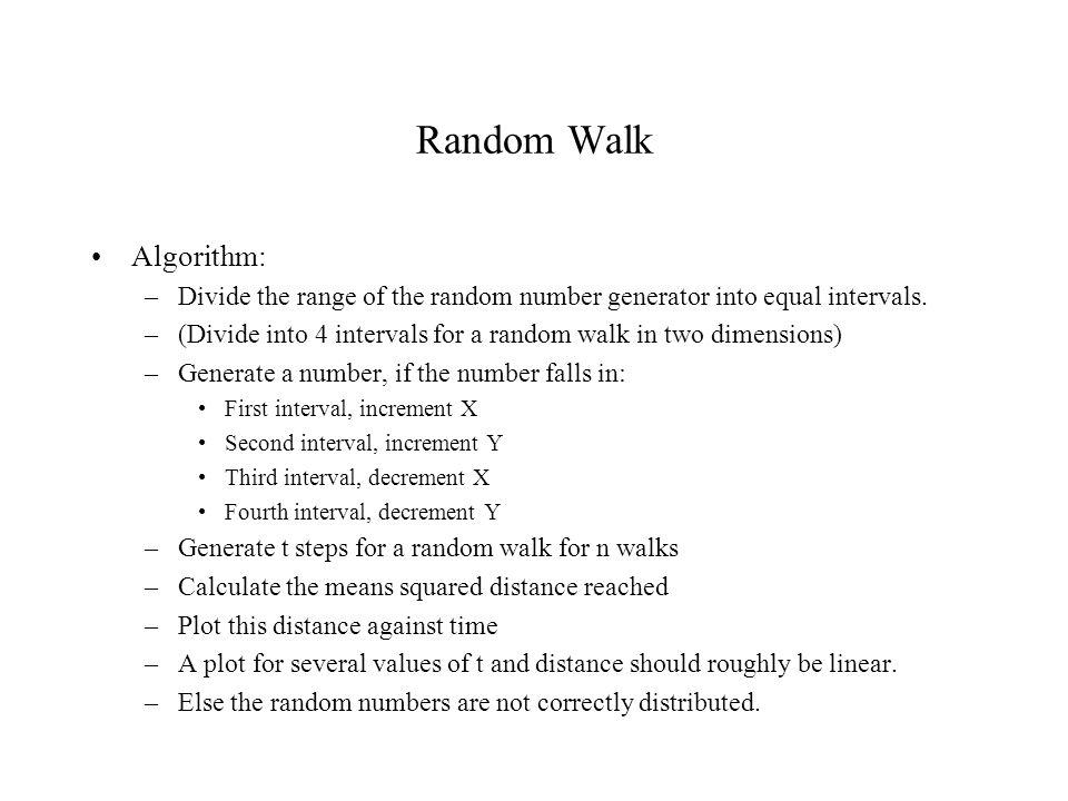 Random Walk Algorithm: