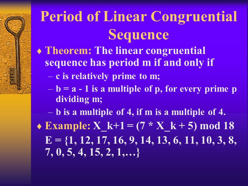 Period of Linear Congruential Sequence