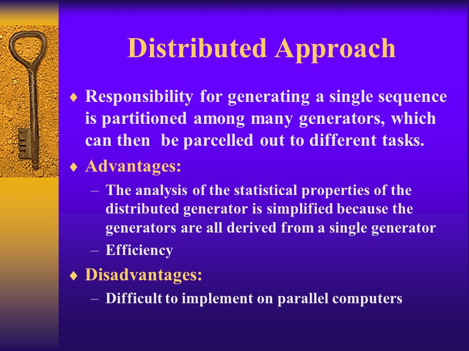 Distributed Approach