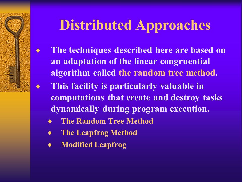 Distributed Approaches