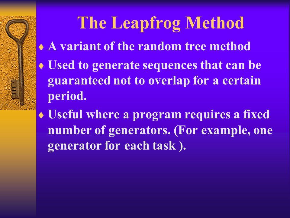 The Leapfrog Method A variant of the random tree method