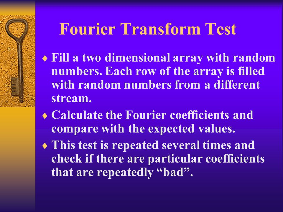 Fourier Transform Test