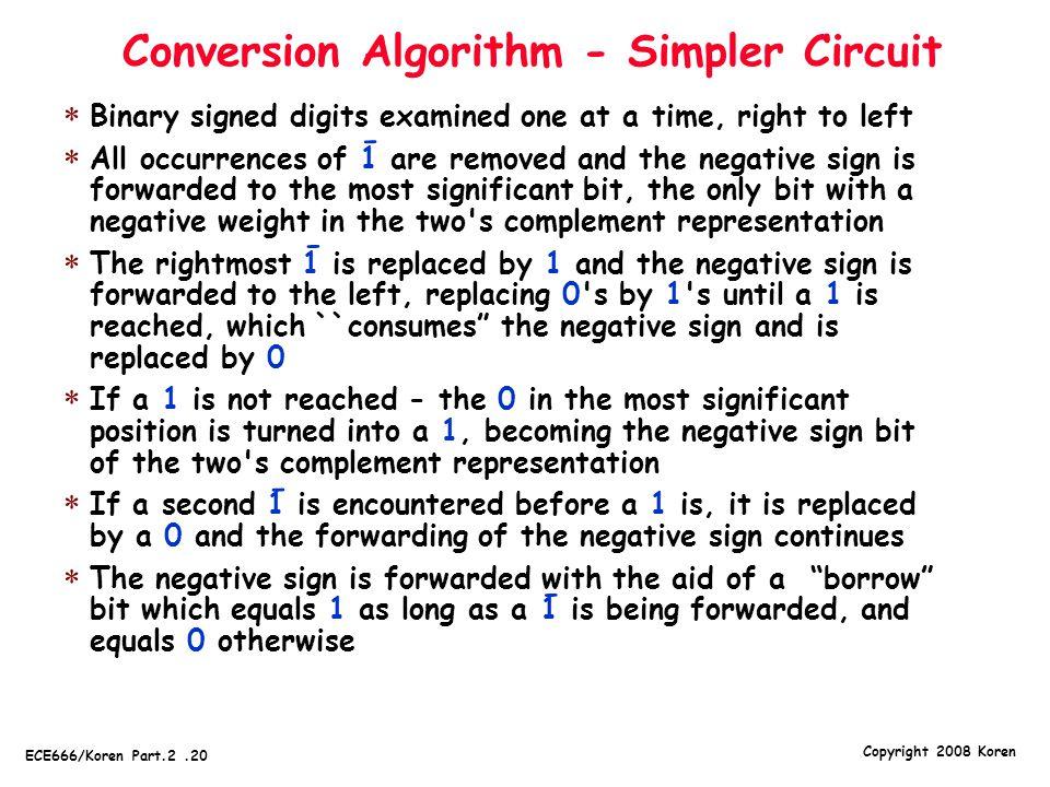 Conversion Algorithm - Simpler Circuit