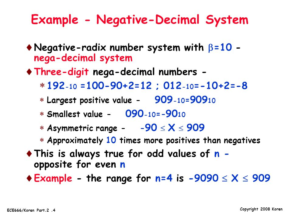 Example - Negative-Decimal System