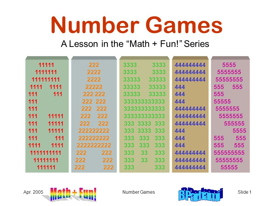 A Lesson in the Math + Fun! Series