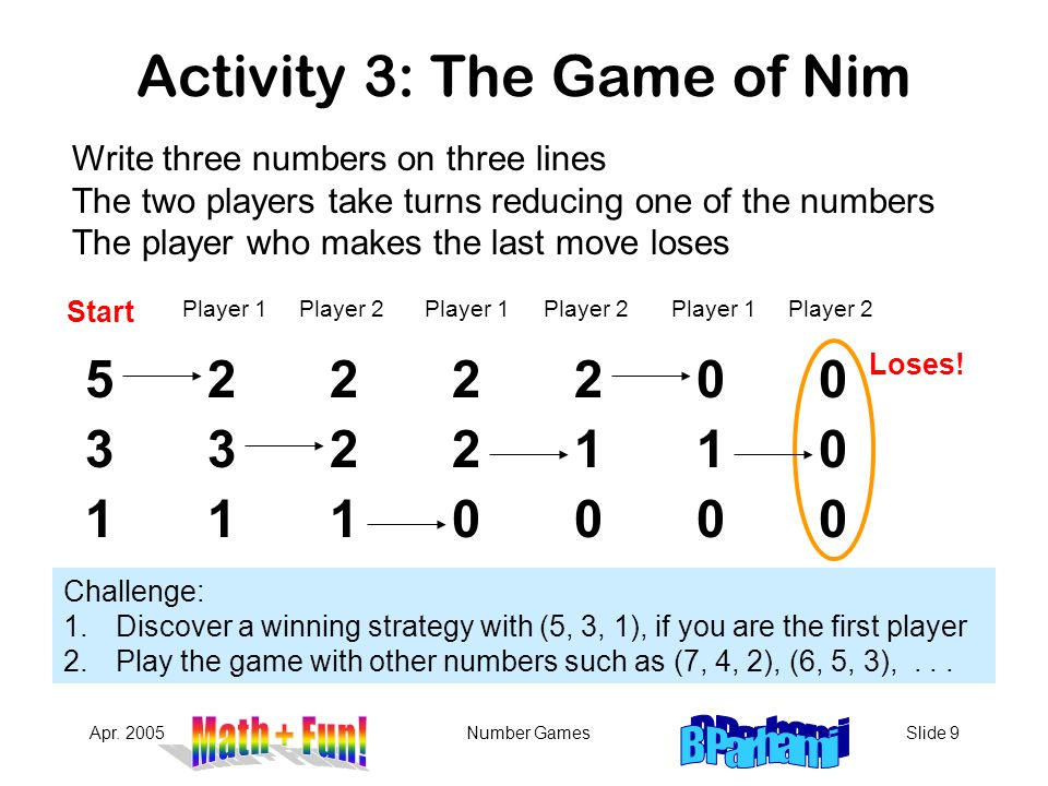 Activity 3: The Game of Nim