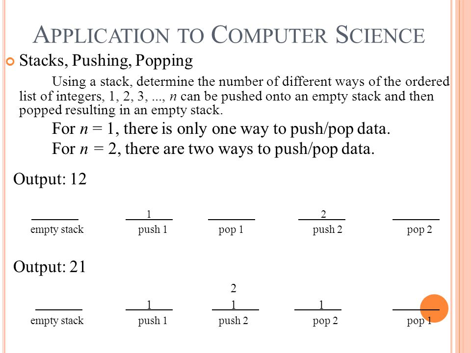 Application to Computer Science