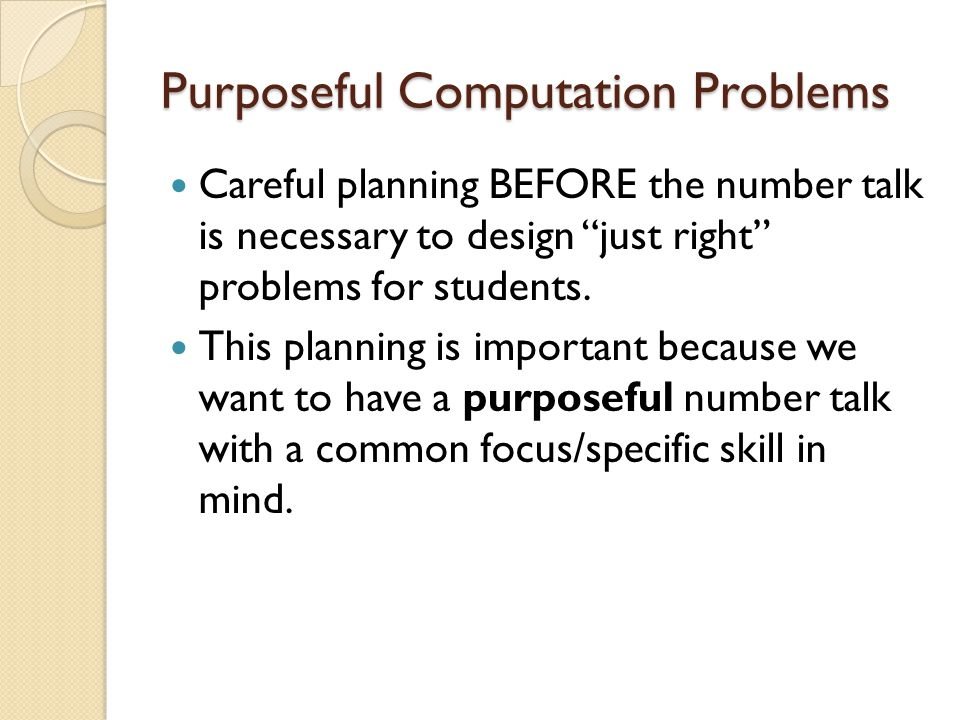 Purposeful Computation Problems