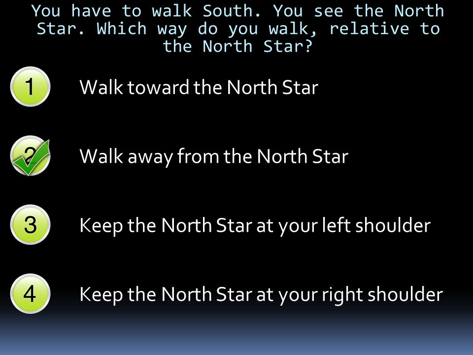 Walk toward the North Star