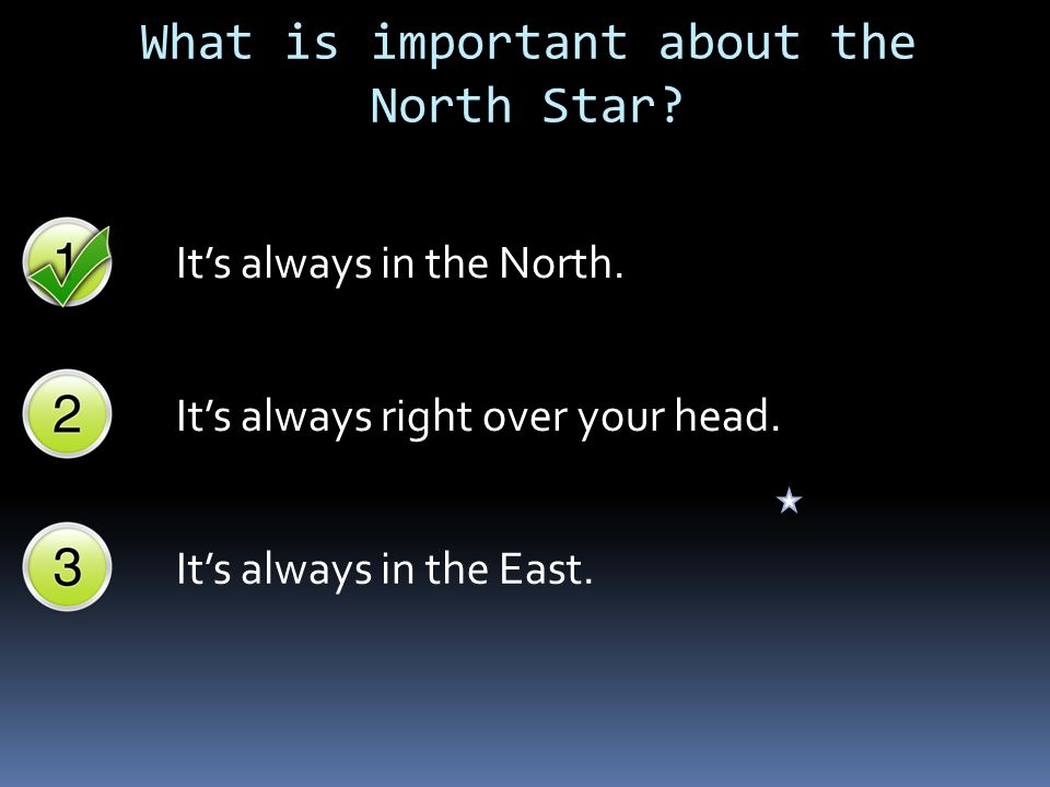 What is important about the North Star