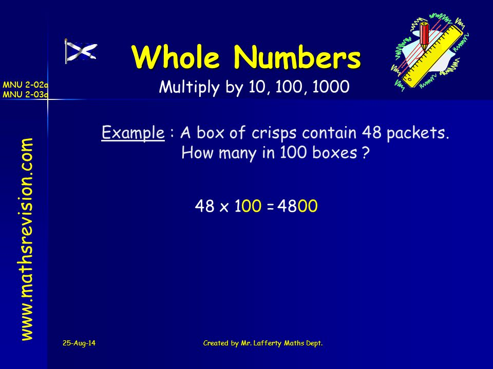 Whole Numbers   Multiply by 10, 100, 1000