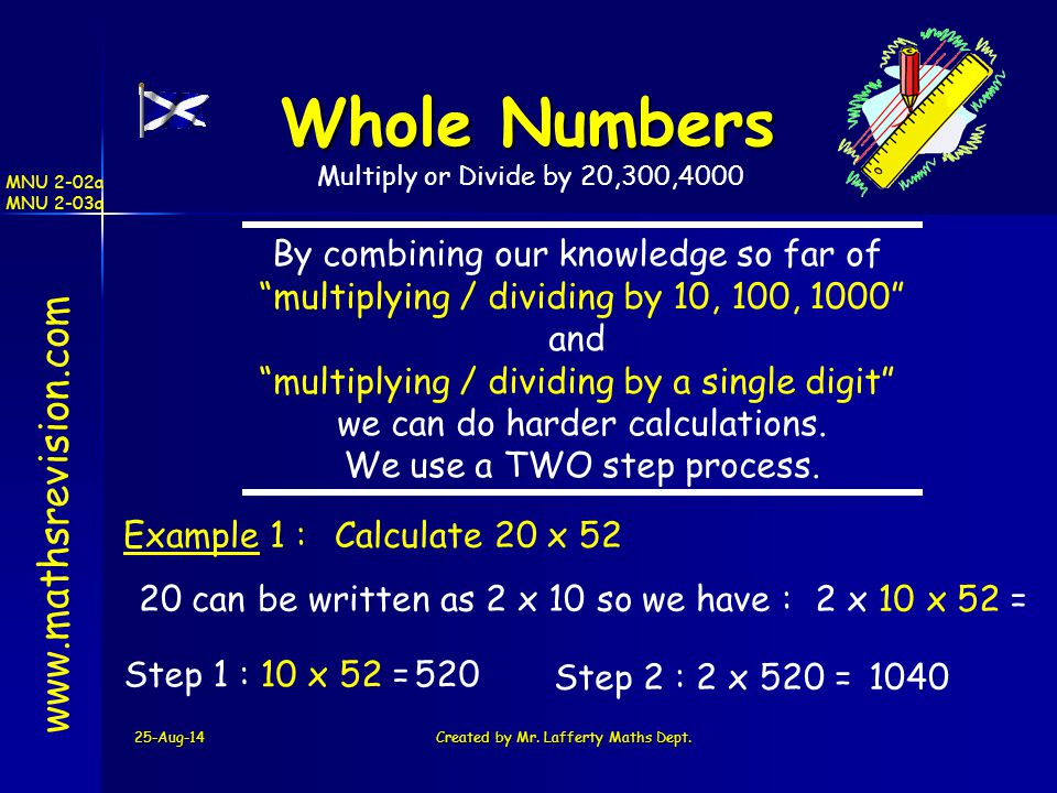 Whole Numbers www.mathsrevision.com