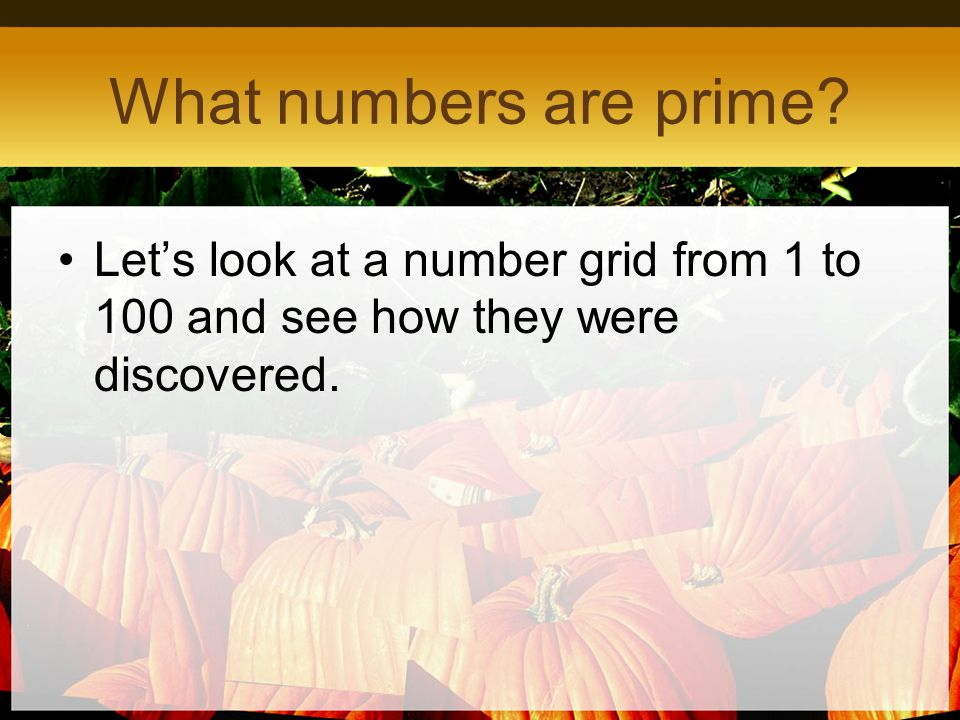What numbers are prime Let's look at a number grid from 1 to 100 and see how they were discovered.