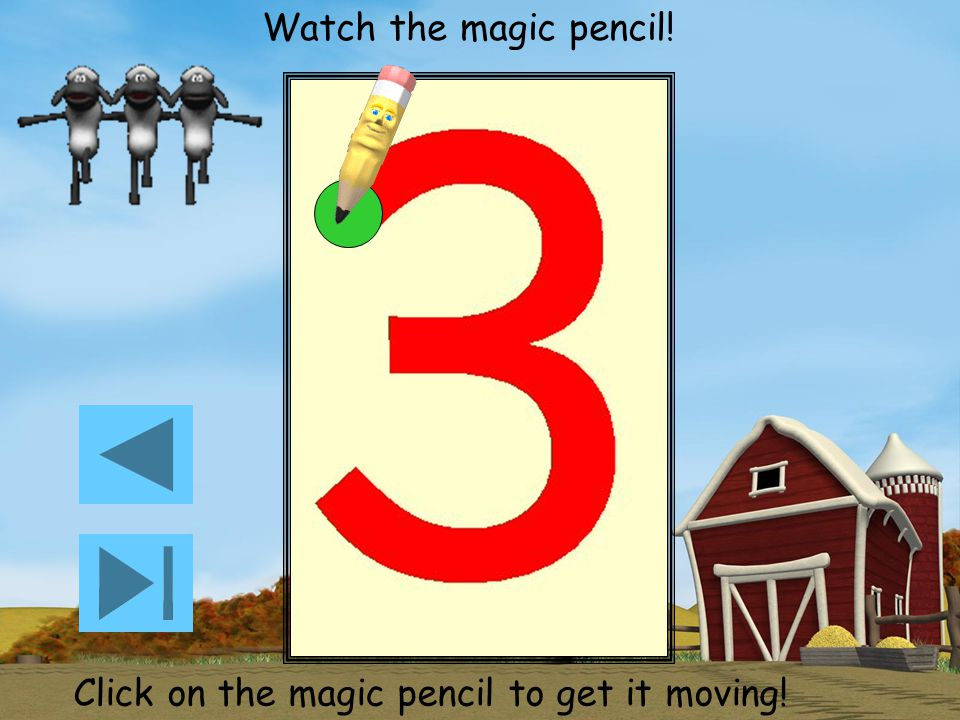 Click on the magic pencil to get it moving!