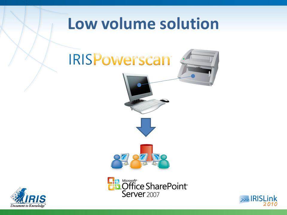 Low volume solution
