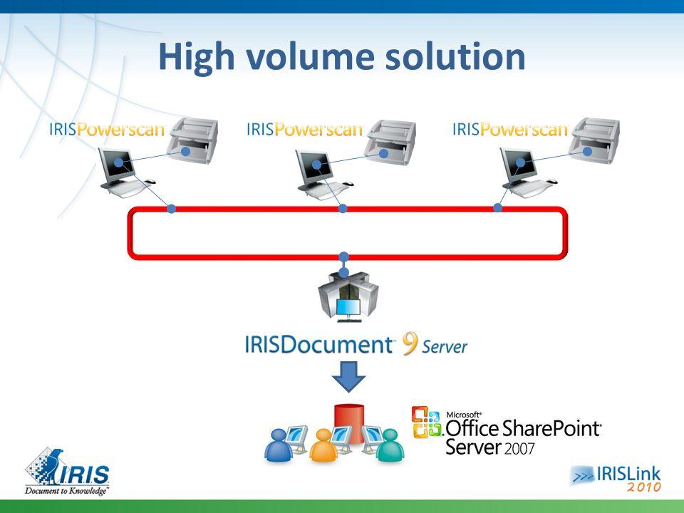 High volume solution